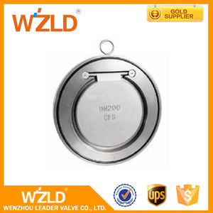 WZLD Wenzhou Factory Stainless Steel Dual Plate Lug 2~20 Inch Wafer Type Swing Check Valve