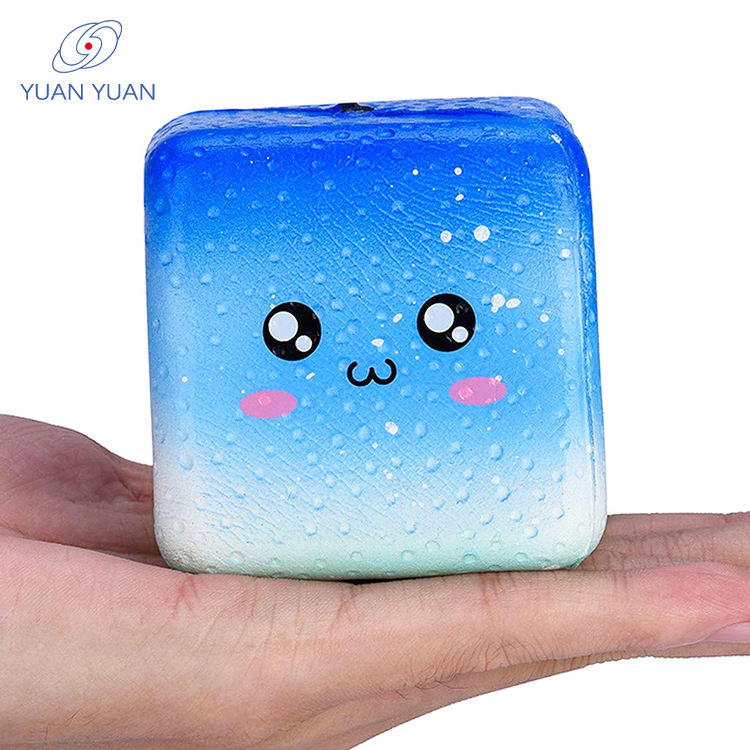 Cartoon Surface High Density Memory Foam Cube Decompression Toys
