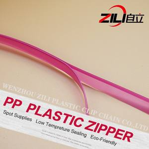 Plastic Zipper Plastic Factory Direct Sale Plastic PP Slider Zipper Fop Zip-Lock Stand Up Pouch
