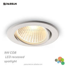 5 years quality guarantee COB chip 9W led recessed spotlight