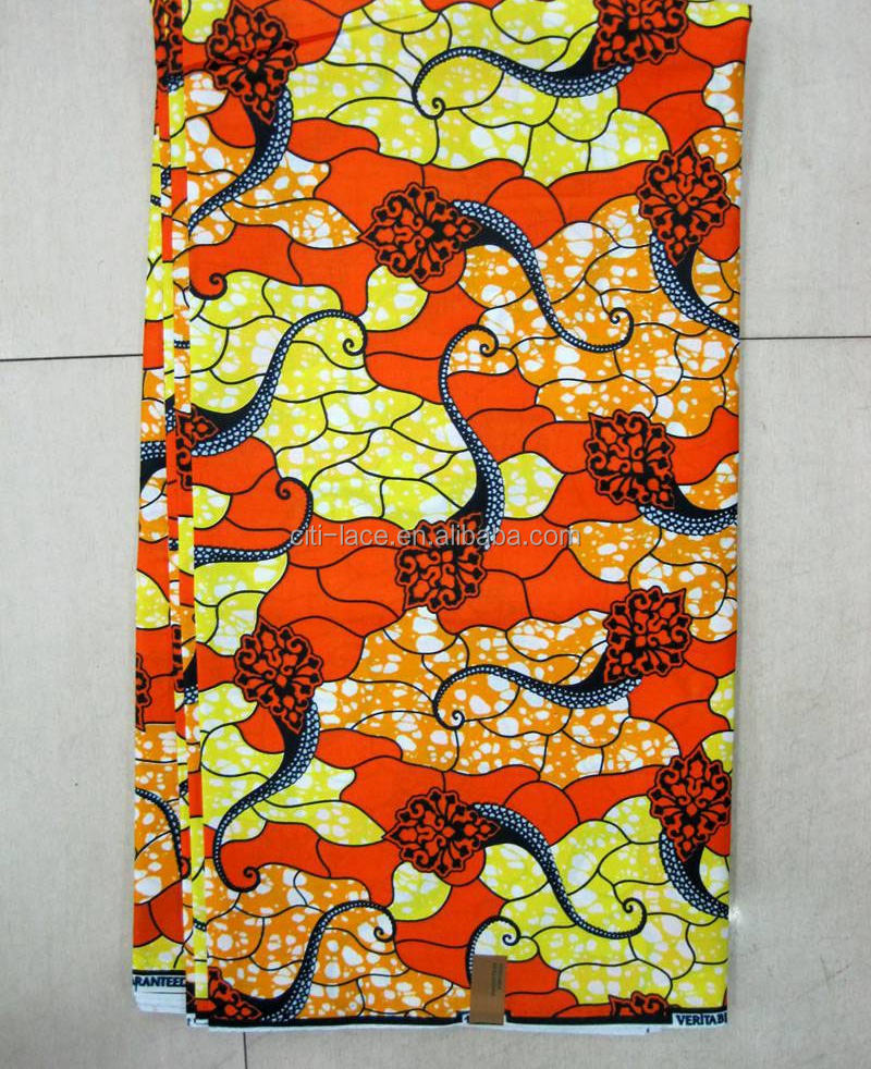 veritable african style high quality cotton dutch real hollandais super african print fabric G482