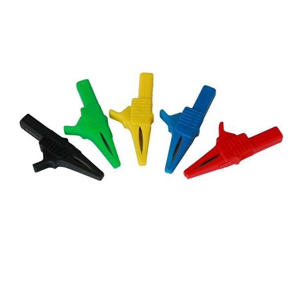 high quality nylon housing alligator clip with 4mm banana plug