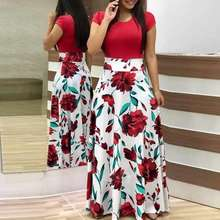 long women dresses 2020 hot selling Chemical Fiber Slim & long style & High Waist slimming with Mixed Fabric & Polyester 223286