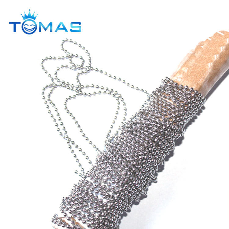 Guangzhou custom decoration stainless steel curtain ball chain roll