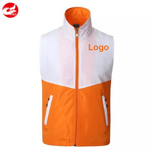 Custom cheap volunteer vests diy print logo vest