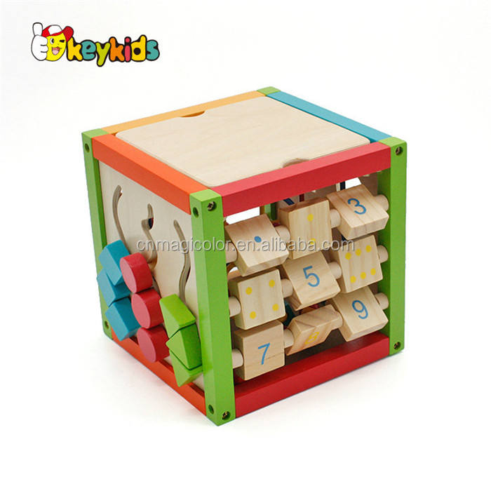 Wooden Activity Cube Toy Beads W11B084