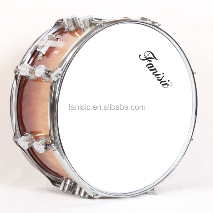 8 Ply Maple Reinforced Layer Wooden Shell Snare Drum