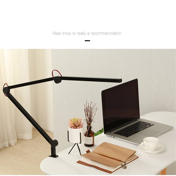 iBelieve black office desk modern hotel solar nail moon table led lamp