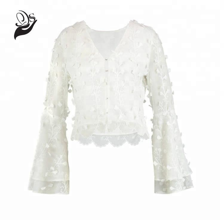 New Style Floral Embroidery Bridal Bolero Blouse