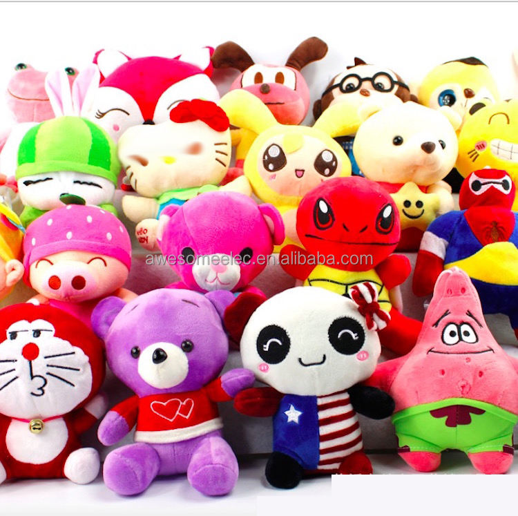 "(Stock) Wholesale Cheap Promotional 7"" Plush Toy, catch machine doll, Animal Stuffed Soft Grab Doll for wedding"