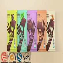 Custom printed stand up zipper chocolate bar packaging