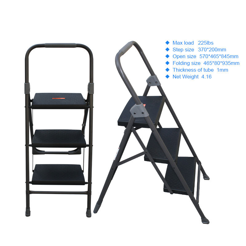 Professional simple domestic safe single sided step ladder chair combination