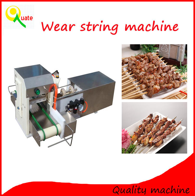 Best price lamb shashlik wearing machine/kebab making machine/string wearing machine