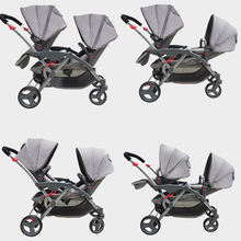 New design best selling SLEEP&SIT&RECLINE buggy twin double stroller for two babies carriers south africa twin stroller double