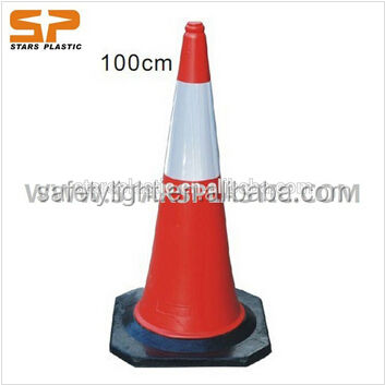Reflectorize Orange Traffic Cone /100センチメートルPE Colorful Safety Cone