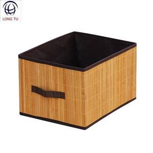 Handicrafts Nature Bamboo Square Wicker Clothes Bin Basket Storage
