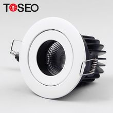 "10w indoor fire rated bathroom ceiling recessed led lighting fixture cutting 3inch 3"" fire proof cob led down lights"