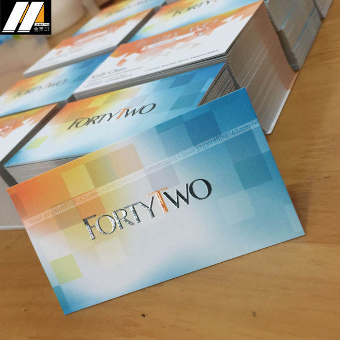full color printing film lamination paper cheapest card visiting