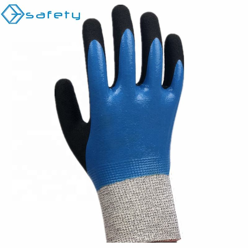 Cut Resistant Chain Better Grip Saw Premium Double Dipped Latex Construction Work Gloves Breathable For Mechanics