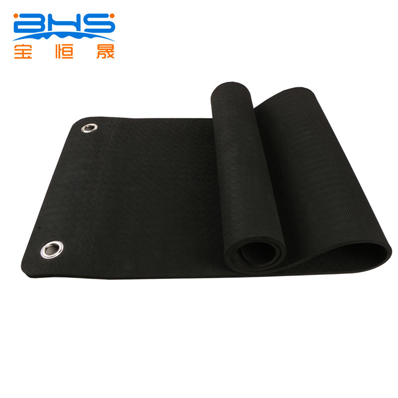 Perforated Anti-slip Grommets Hanging Yoga Mat with Holes