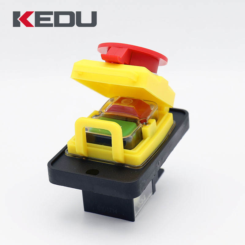 KEDU KJD12 Transparent Safety Electromagnetic Switch With Under Voltage and Overload Protection