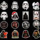 100 Pcs Movie Character Stickers For Car Laptop Skateboard Bicycle Luggage Pvc Waterproof Decal Sticker B