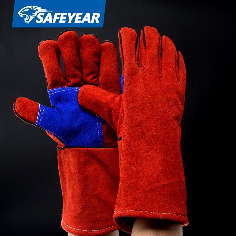 high quality CE approved cow leather safety industrial oven cut resistant welding gloves
