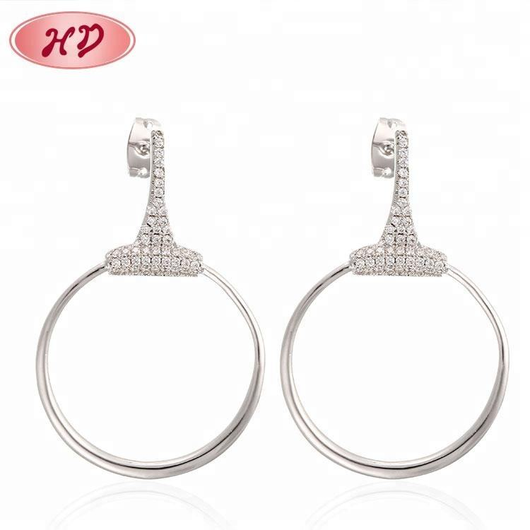 Small Moq Wholesale Jewellery Earrings Fashion White Gold Hoop Earrings