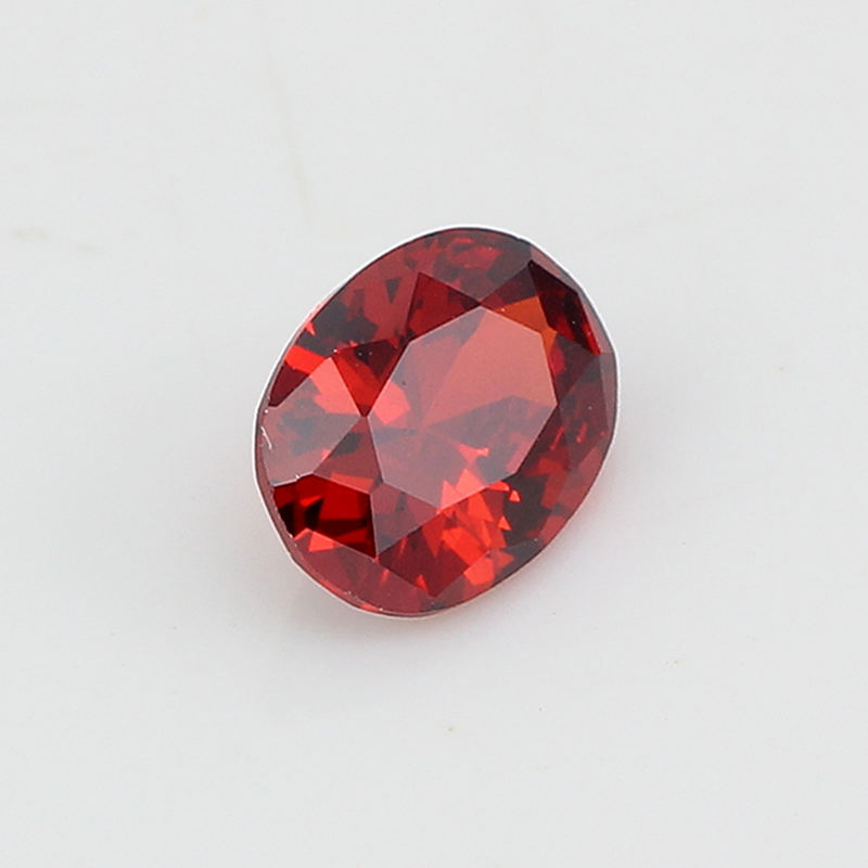 Starsgem super quality blood red synthetic loose gemstone oval garnet color Cubic Zirconia