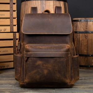 Designer Leather Backpack for Camping, Casual Style Luggage Hiking Bag, vintage leather backpacks for men
