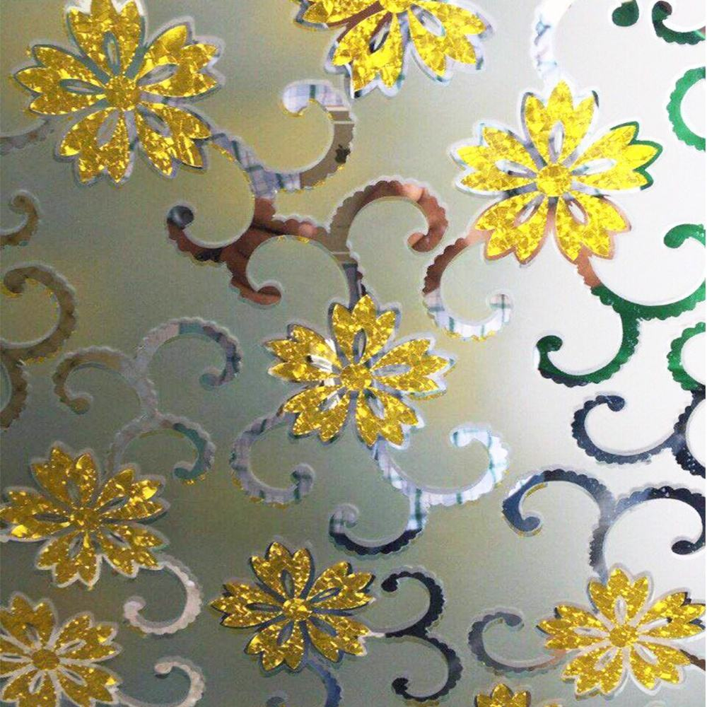 gold yellow 5mm 4.8mm 4mm art acid etched decorative glass