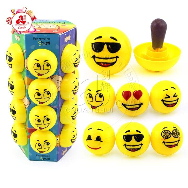 Emojis Face pacifier candy toy hard nipple candy lollipop