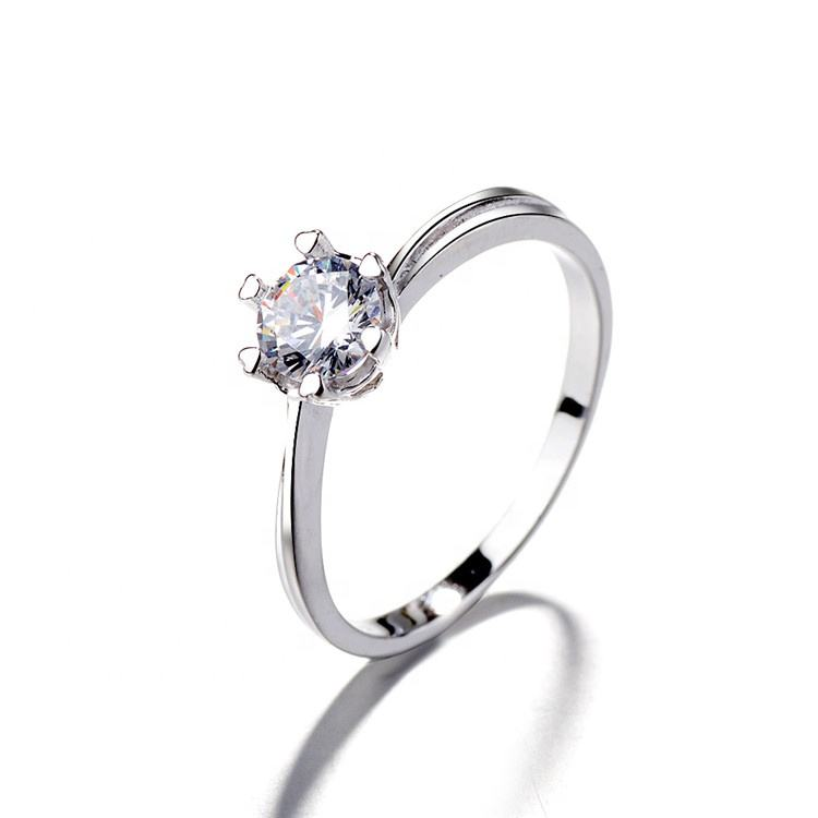 New Fashion Main Stone Cubic Zirconia Ring 925 Sterling Silver Ring Wedding Rings