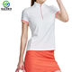Golf Apparel Women Golf Apparel Shenzhen White Polo Shirt Women Short Sleeve Solid Slim Mock Tops Slim Fit Golfer T Shirt