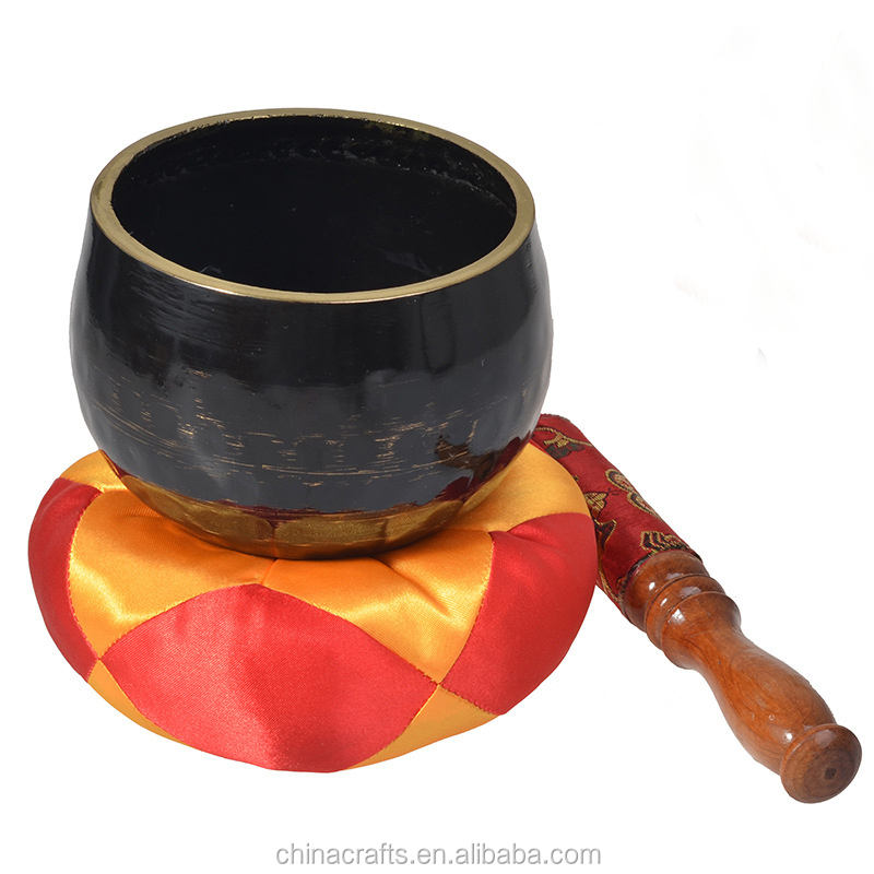 High Quality Meditation Healing Handmade Tibetan Singing Bowl with Buddhist Singing Bowls Cushion