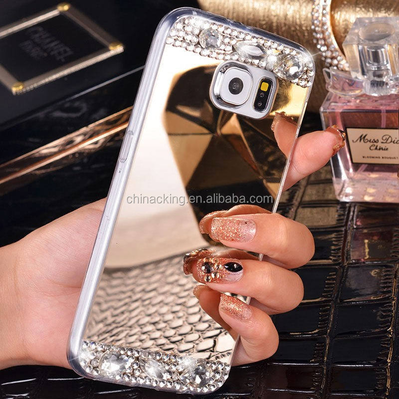 For Samsung Galaxy J3 J5 J7 2016 S7 Edge S6 S8 S9 S10 A3 A5 A7 2017 Grand Prime Case Cover Bling Diamond Mirror TPU Phone Case