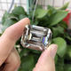 synthetic 2 carat emerald cut moissanite price per carat for wedding ring making