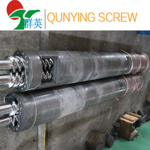 Plastic frame extrusion parallel twin screw and barrel of double screws