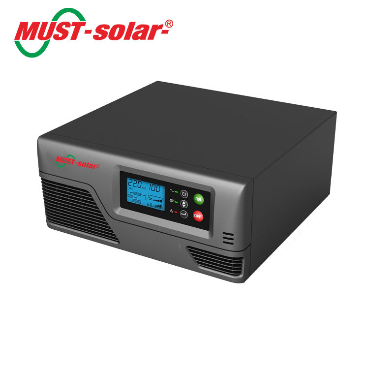 MUST EP2000 Pro 1Kw LCD display power inverter dc 12v 24v ac 220v 1000w 1000watts inverter power