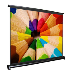 40 Inch Portable Mini Table Projector Screen Folding Screen / Desk Roll-up Projection Screen Indoor /Outdoor Matt White