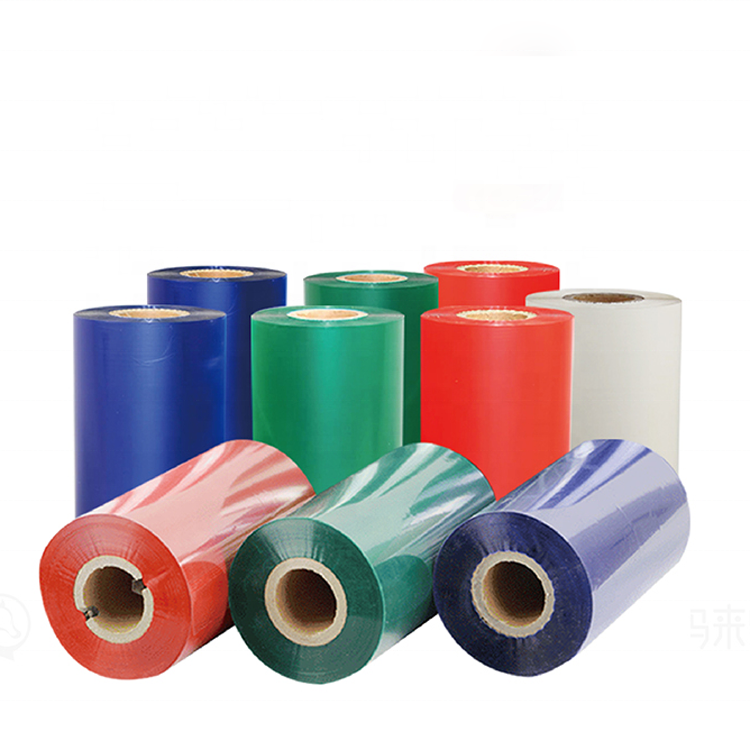 factory price argox barcode printer white thermal transfer wax resin ribbon, barcode jumbo roll