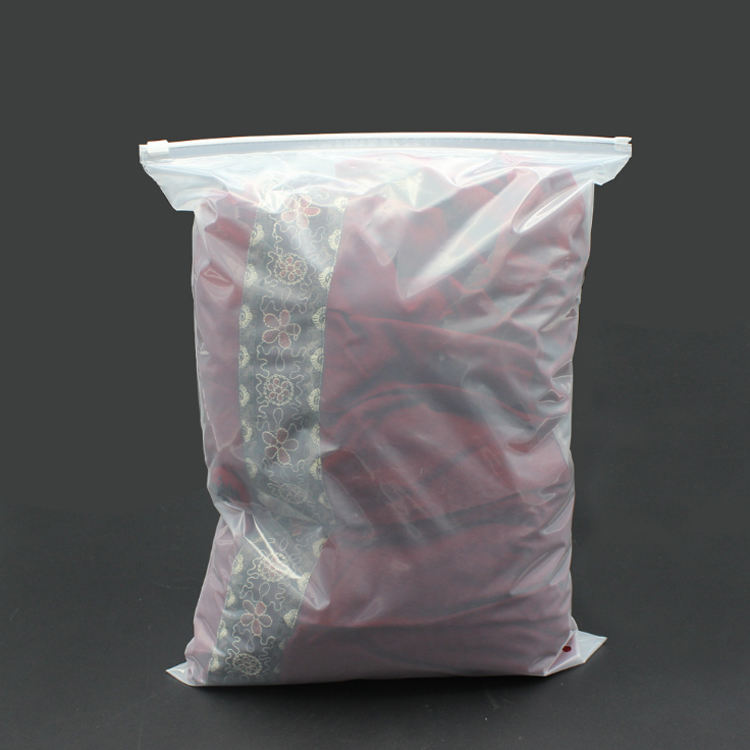 Recyclable Environmental Hot Sale Custom Printed Ziplock Bags Packaging Plastic Frosted Slider Clothing Bag