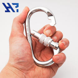 Oval quick release stainless steel carabiner
