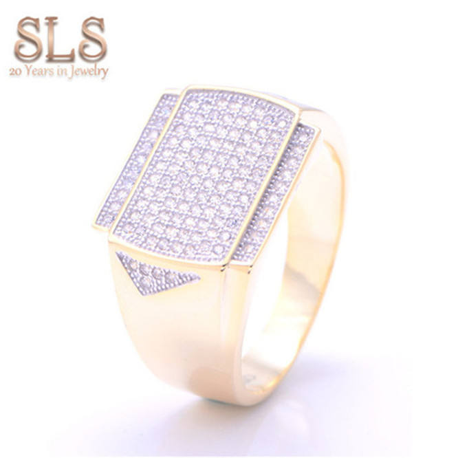 Dubai Jewelry 18K Real Withe Gold Plated Diamond Ring Top Sellers S925 Metal Ring 15 For Man