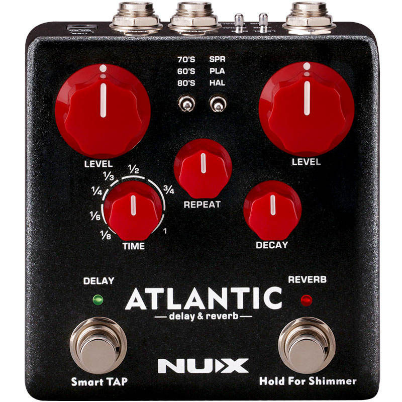 Verdugo ATLANTIC delay and reverb double nail NUX guitar pedal