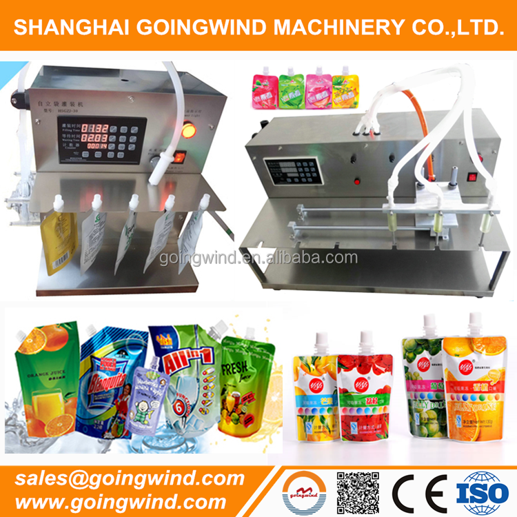 Liquid semi automatic spout pouch filling machine manual stand up bag doy pack filler and capper machines cheap price for sale