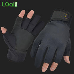 fingerless fishing gloves waterproof custom fishing gloves