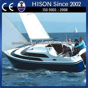 hison fábrica de venta directa de la costera de alta velocidad de barco de vela Mini yate 20KM / H
