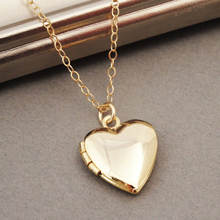 Fashion Jewelry DIY Personalized Love Gold Plated Heart Locket Necklace