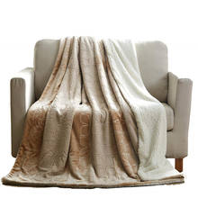 100 % Polyester warm winter blanket, luxury super soft chunky knit blanket